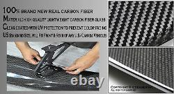 Batman Style Sun Water proof 57 Real Carbon Fiber Rear Trunk Spoiler Wing C3