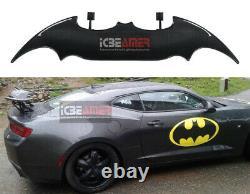 Batman Style Sun Water proof 57 Real Carbon Fiber Rear Trunk Spoiler Wing G7