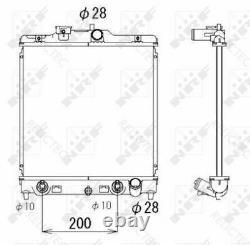Coolant Radiator HondaCIVIC VI 6, CRX II 2, V 5 19010P2J014 19010P2J004