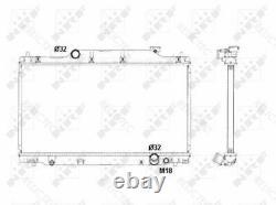 Coolant Radiator HondaCIVIC VII 7 19010PRA003