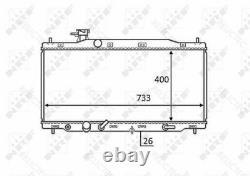 Coolant Radiator HondaCR-V III 3 19010RZPG51