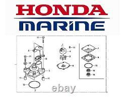 Genuine Honda 60hp BFP60A Outboard Water Pump Impeller Repair Kit 06194-ZZ3-0000