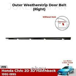 HONDA GENUINE 92-95 EG6 CIVIC OUTER WINDOW DOOR MOLDING Water Cut Mall