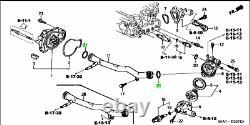 Honda Genuine Water Pump Connecting & Ring Set 93-01 Prelude 19505-p13-000 Oem